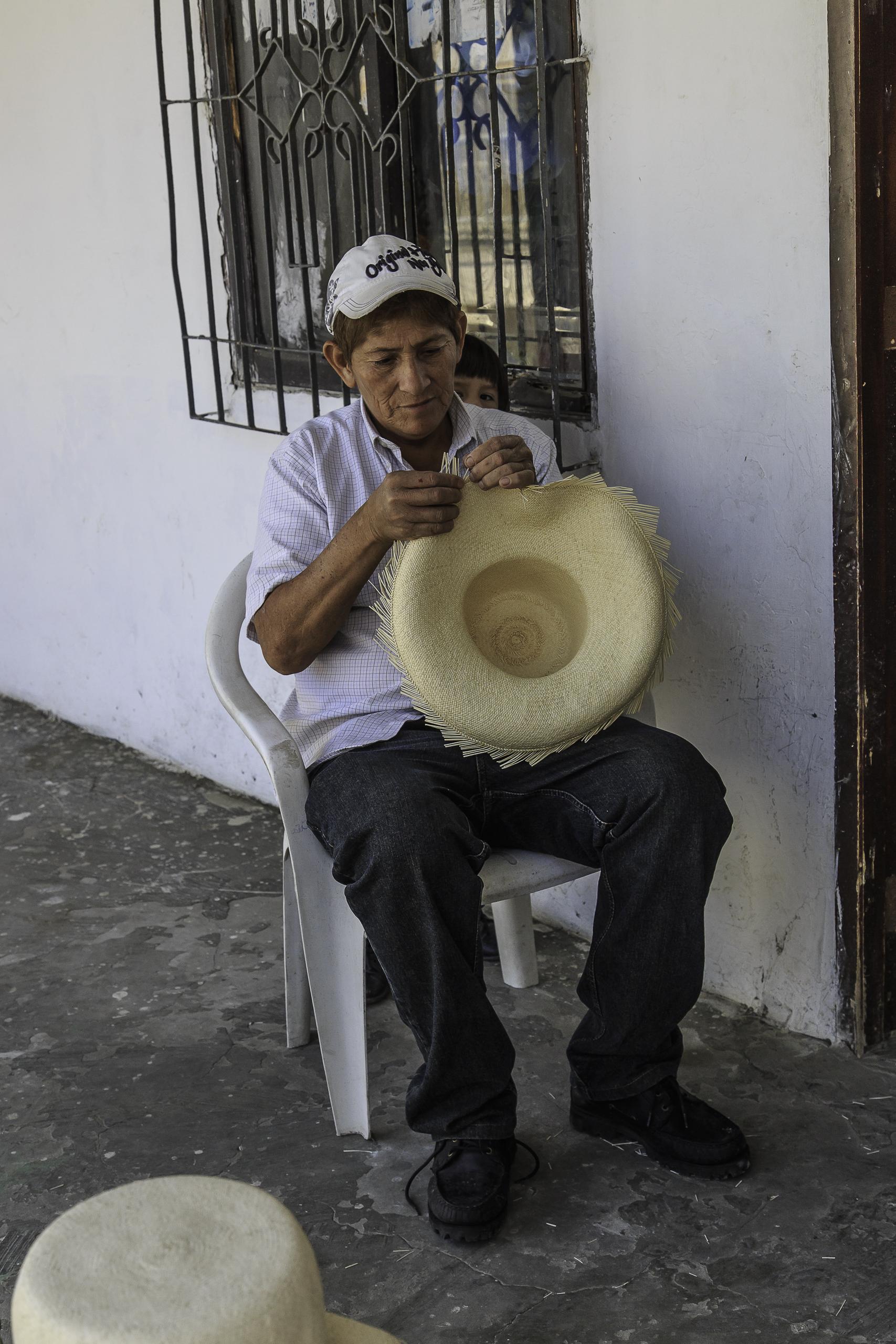 Panamahüte in Montechristi