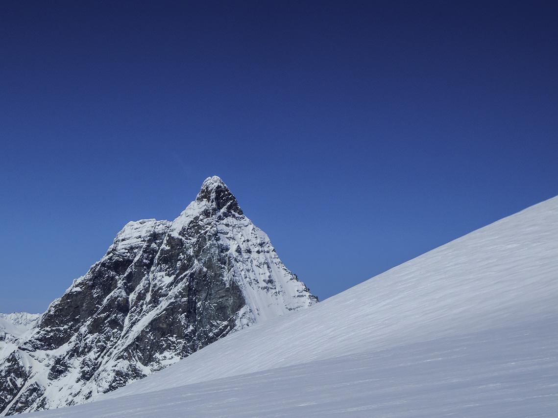Matterhorn im Aufstieg zum Breithorn