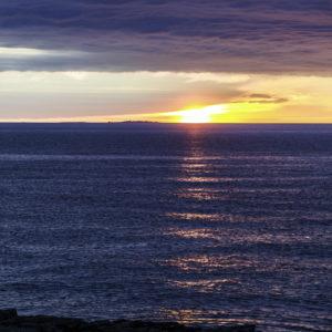 Sonnenaufgang über den Erbseninseln
