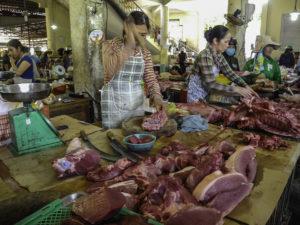 Fleischstand am Markt
