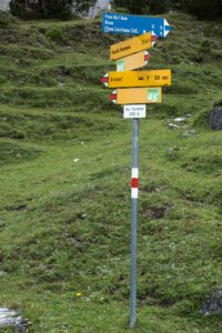 Schweizer Wanderwegweiser