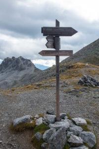 italienischer Wanderwegweiser
