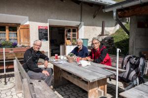 Rast auf der Alp Mora