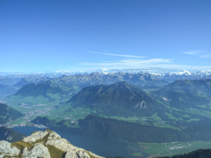 Blick vom Gipfel des Pliatus